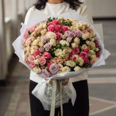 Букет из кустовой розы #32