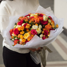 Букет из кустовых роз #33